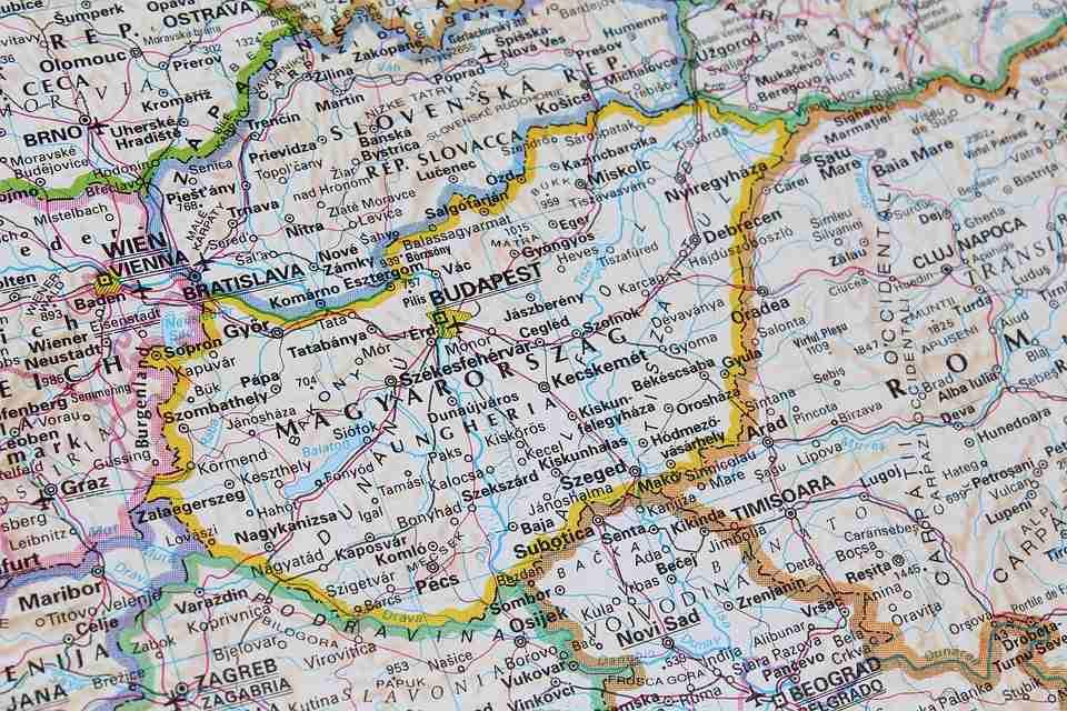 Mapa-Madjarska